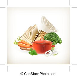 het koken, vector, illustratie