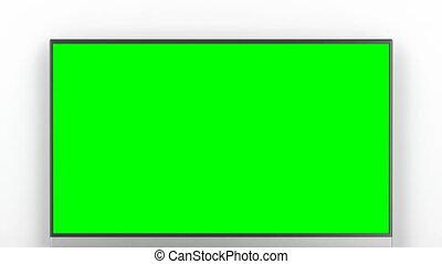 het leven van tv, scherm, groene, kamer