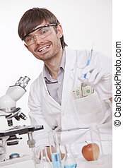 het manipuleren, wetenschapper, doping, substanties