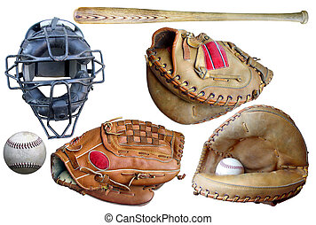 het materiaal van het honkbal