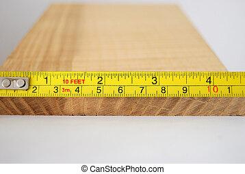 het meten, hout