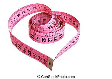 het meten van band, -, hart