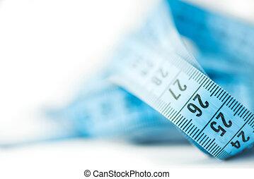 het meten van band, kleermaker, -, macro