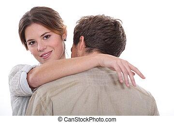 het omhelzen van het paar