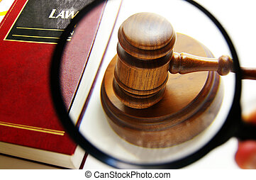het onderzoeken, rechters, versieren, vergrootglas, boek,...