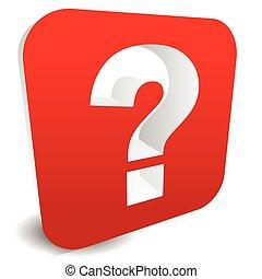 het oplossen, quiz, vraag, verwant, mark, het kijken, solution., grafiek, raadsel, concepts., vragen, probleem, rood, 3d