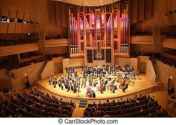 het orkest van de symfonie