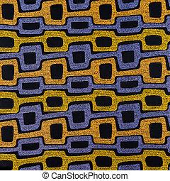 het patroon van de stof, materiaal, textuur, textiel, ...