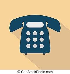 het pictogram van de telefoon