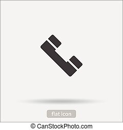 het pictogram van de telefoon, vector, is, type, eps10