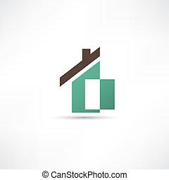 het pictogram van het huis