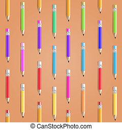 het potlood van de kleur, seamless, achtergrond