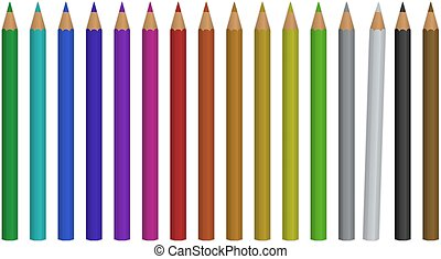 het potlood van de kleur, set