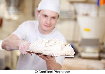 het putten, bakker, deeg, oven, brood