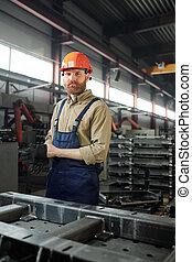 het putten, productiewerk, arbeider, handschoenen