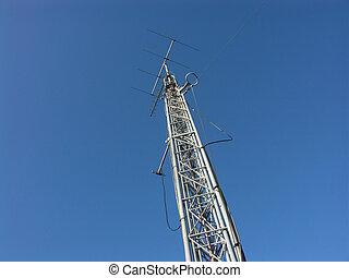 het radio uitzenden, mast