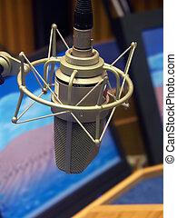 het radio uitzenden