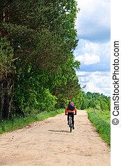 het reizen, fietser