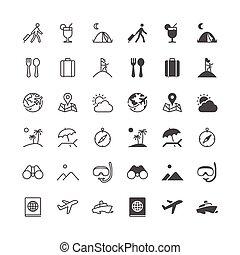 het reizen, iconen