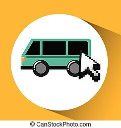 het reizen, vervoeren, concept, technologie, grafisch ontwerp