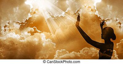 het roemen, god