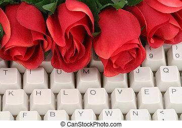 het rood nam toe, en, toetsenbord
