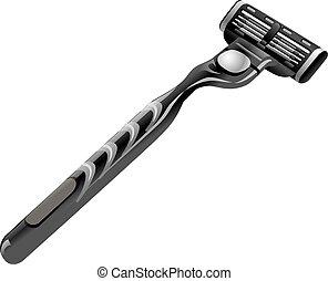 het scheren, scheermes