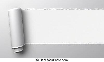 het scheuren, papier