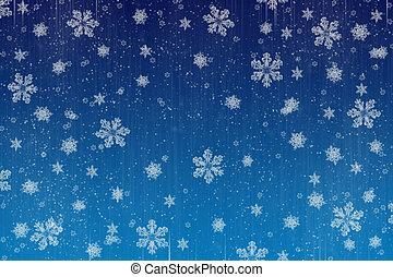 het sneeuwen