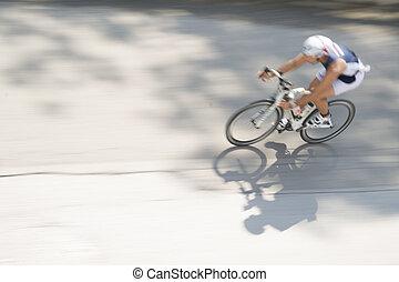 het snelen, bicycles