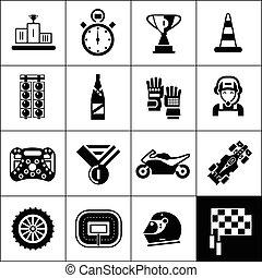 het snelen, black , iconen