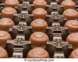 het suikergoed van de chocolade