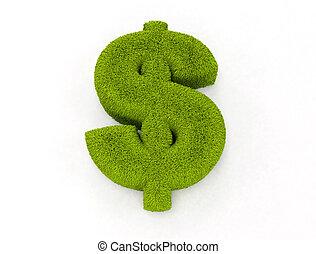 het teken van de dollar, gras