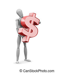 het teken van de dollar