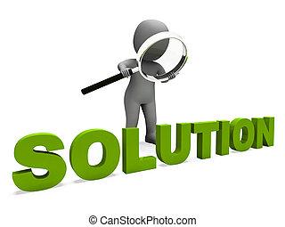 het tonen, karakter, oplossing, opgeloste, slagen, resolutie, prestatie