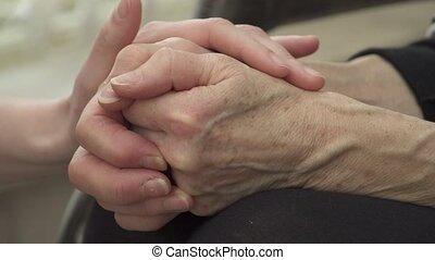 het troosten, handen