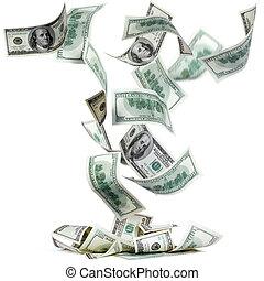 het vallen, dollars