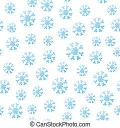 het vallen, seamless, snowflakes
