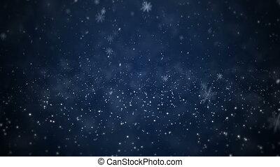 het vallen, sneeuw