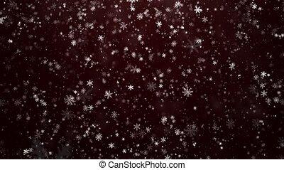 het vallen, snowflakes