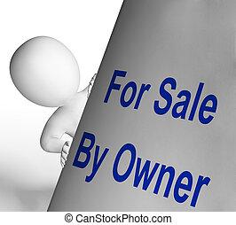 het verkopen, middelen, verkoop teken, lijst, eigenaar