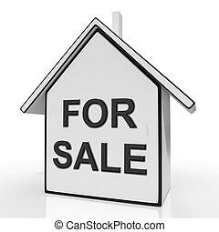 het verkopen, middelen, woning, auctioning, verkoop, thuis, of