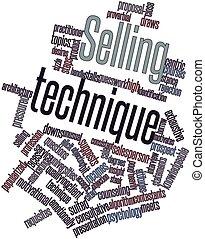 het verkopen, techniek