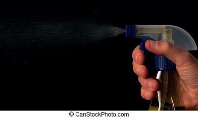 het verstuiven, reinigingsmachine, van, een, verpulveren