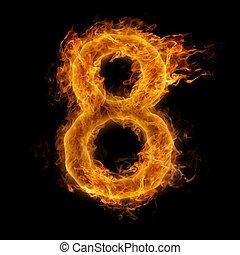 het vlammen, getal