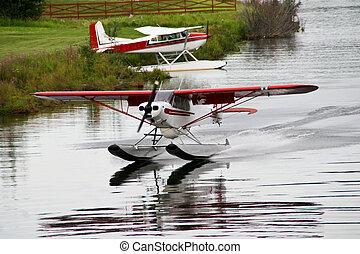 het vliegtuig van de vlotter