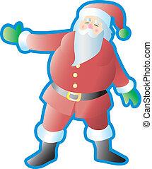 het voorstellen, kerstman