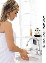 het wassen hands