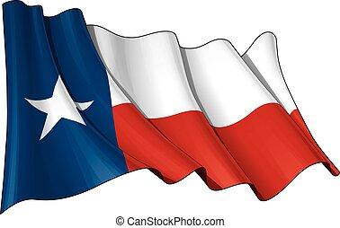 het watergolven dundoek, texas
