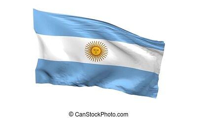 het watergolven dundoek, van, argentinië